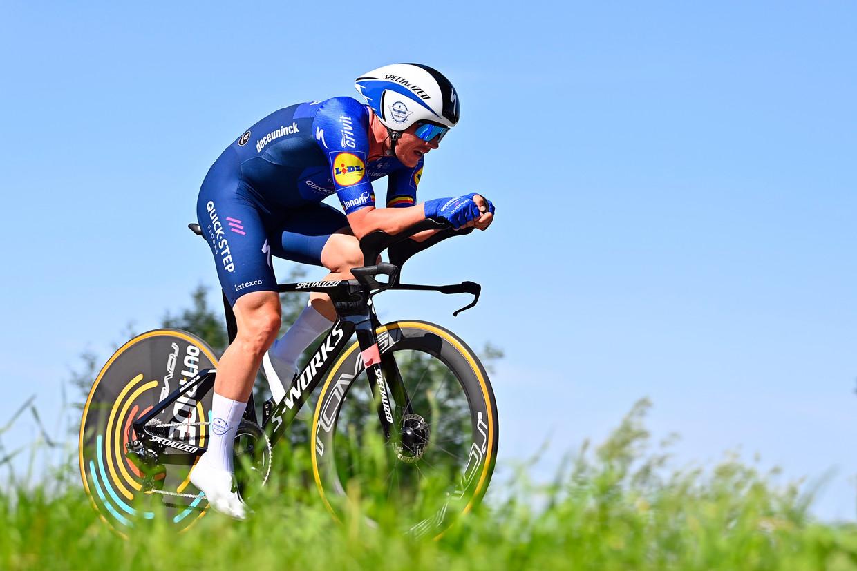 Yves Lampaert in de Baloise Belgium Tour. Beeld Photo News