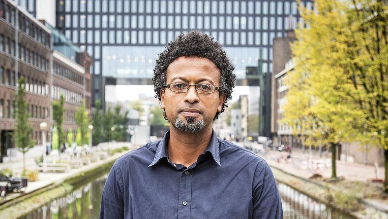 Sennay Ghebreab, wetenschapper bij de UvA en het AUC. Beeld Guus Dubbelman / de Volkskrant