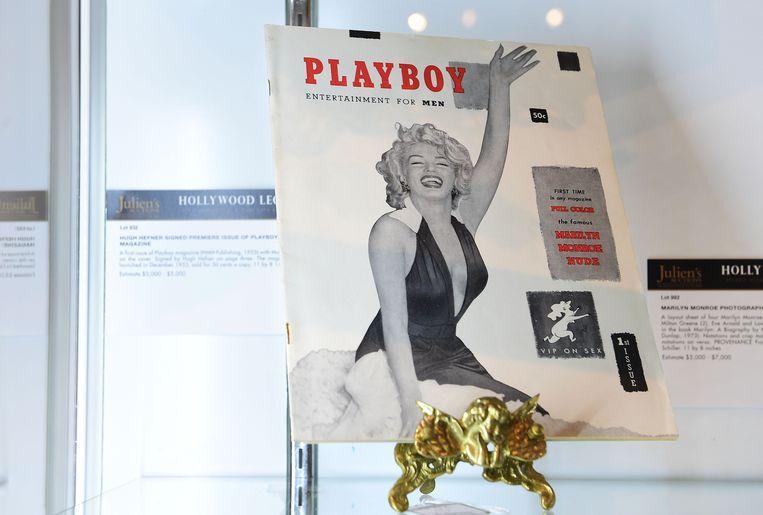 De eerste 'Playboy', met Marilyn Monroe, verscheen in 1953.  Beeld AFP