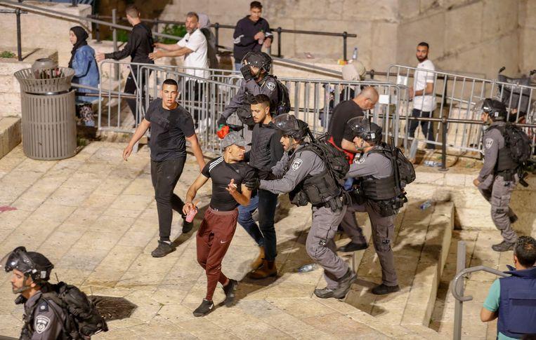 Hekken bij de Damascuspoort in Jeruzalem. Beeld AFP