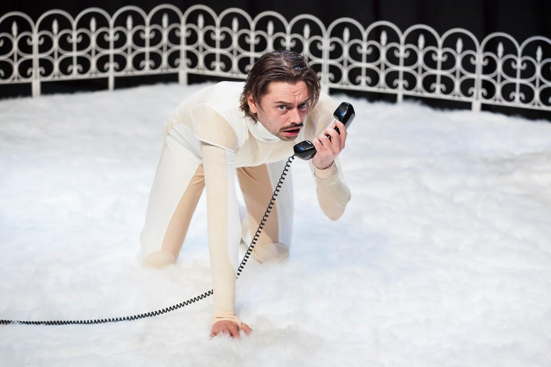 Stefano Keizers tijdens de voorstelling 'Sorry baby'.