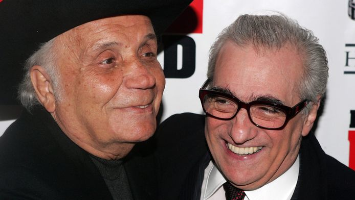 Jake LaMotta avec Martin Scorsese en 2005.