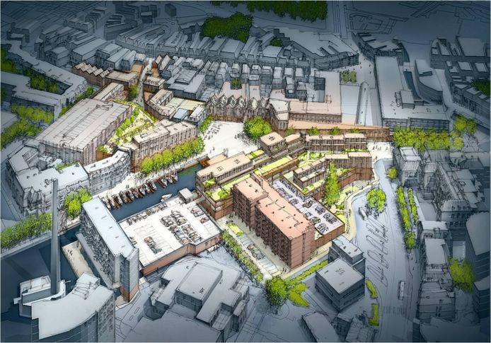 De laatste versie van het Binnenstadsplan van de gemeente Almelo.