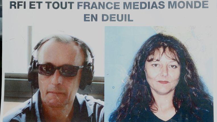 Ghislaine Dupont (R) en Claude Verlon, twee journalisten die dit jaar in Mali werden vermoord. Beeld ap