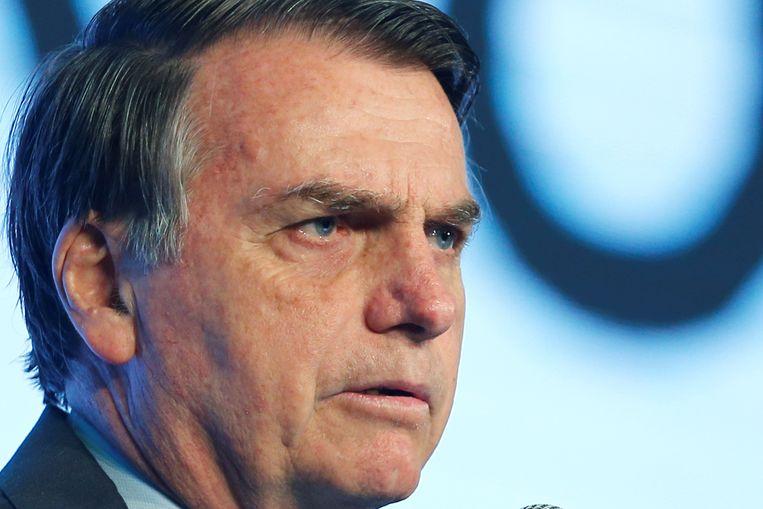 De Braziliaanse president Jair Bolsonaro. Beeld REUTERS