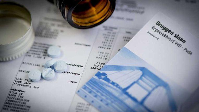 De invoering van de inkomensafhankelijke zorgpremie is een van de hete hangijzers van het regeerakkoord. Beeld anp