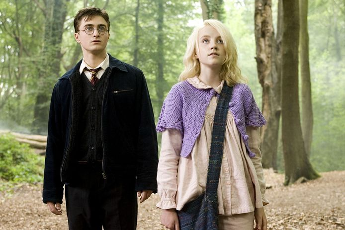 Daniel Radcliffe en Evanna Lynch in 'Harry Potter and the Order of the Phoenix'