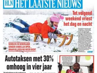 Vrieskou en sneeuw bemoeilijken bedeling kranten