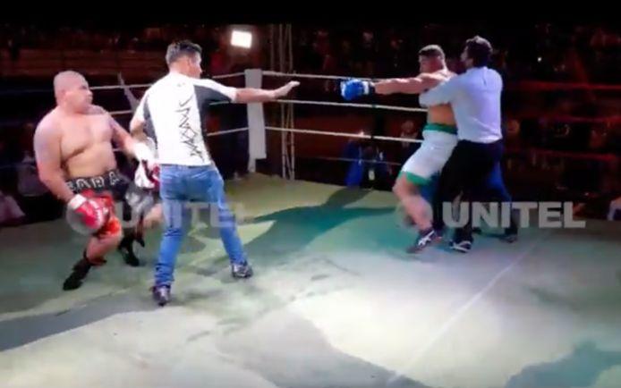 Saul Farah in gevecht met Pedro Tabares