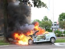 Felle autobrand in Tiel