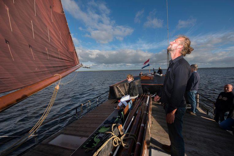 Aan boord van zeilschip Willem-Jacob. Beeld Els Zweerink