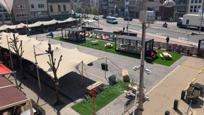 Twee glazen huizen, grotere terrassen, bubbelbanken en extra groen: Markt Eeklo is klaar voor heropening terrassen