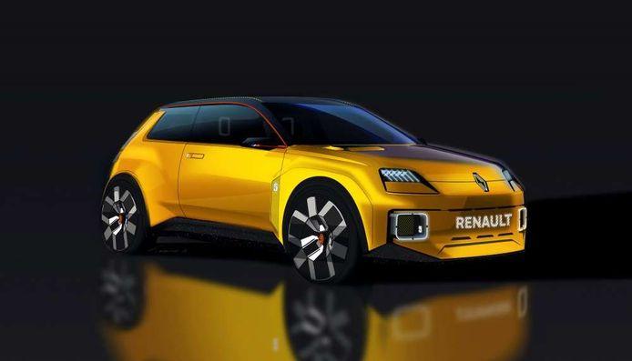 Autofabrikanten werken hard aan het elektrificeren van hun gamma. Zo komt Renault met een soort retrovariant van de Renault 5 op stroom.
