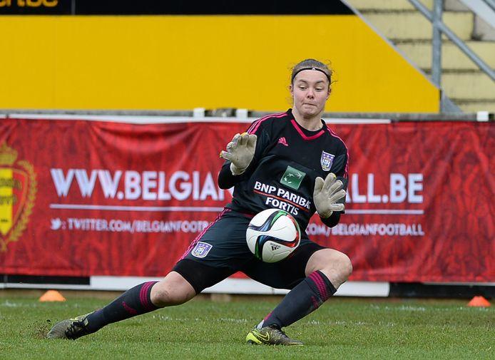 Lemey als doelvrouw van Anderlecht.