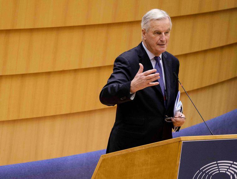 EU-hoofdonderhandelaar Michel Barnier. Een compromis tussen Europa en het VK is nog altijd mogelijk, maar veel tijd is er niet meer. Beeld Photo News