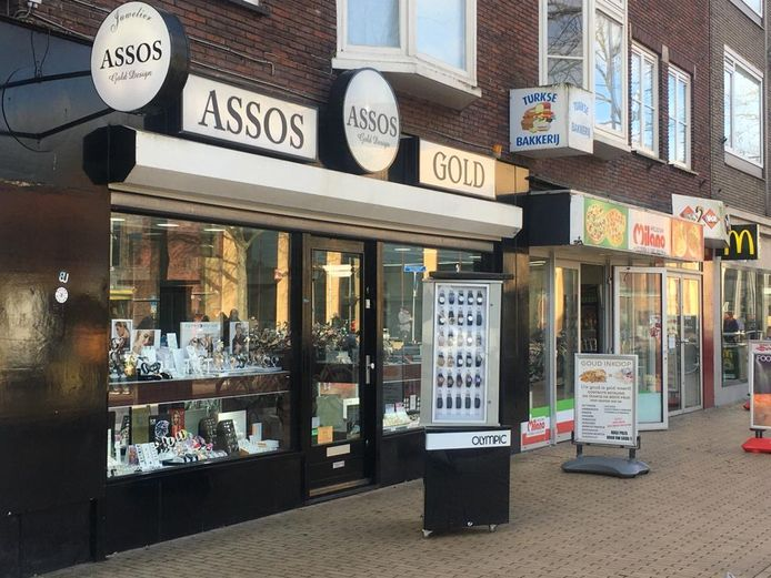 Juwelier Assos Gold in Apeldoorn die in februari werd overvallen.