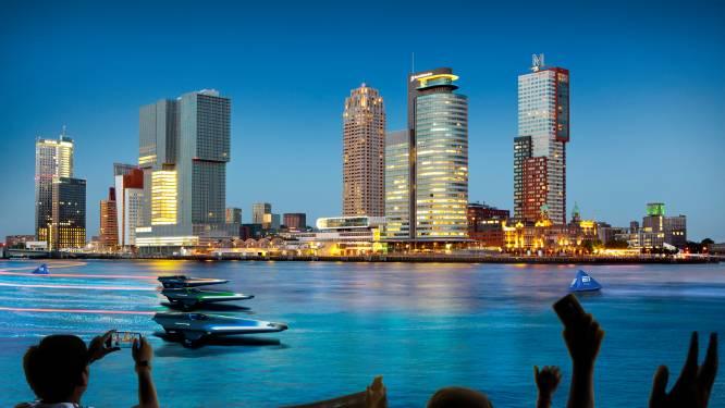 Wordt Rotterdam dé locatie voor nieuw WK? Dan racen deze E-speedboten onder de Erasmusbrug door
