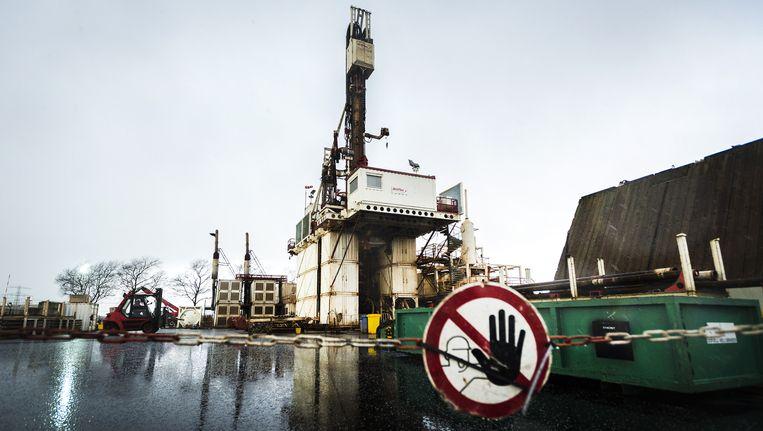 Een meetlocatie waar olie- en gasbedrijf NAM de bodemdaling door gaswinning kan meten. Beeld anp