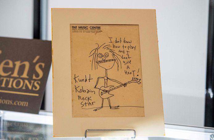 Het zelfportret van Kurt Cobain