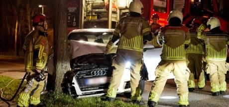 Automobilist botst met auto tegen boom in Hoogerheide