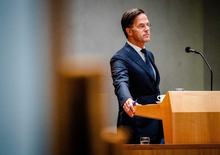 Mark Rutte is vandaag aan het woord in de Algemene Politieke Beschouwingen. Beeld ANP