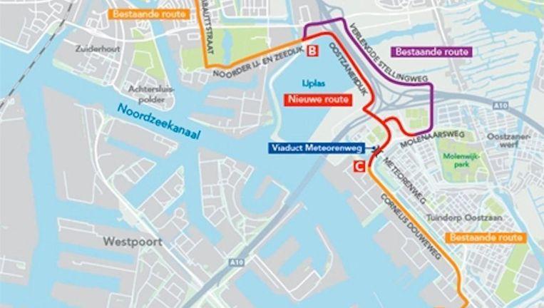 De nieuwe snelfietsroute Beeld Gemeente Amsterdam