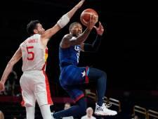 Basketballers Verenigde Staten rekenen na pauze af met Spanje: 'Dream Team' naar halve finales