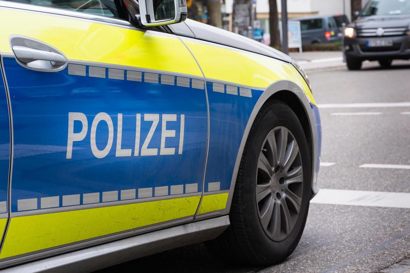German Polizei Police Car Sports Fast Wheel Asphalt Mirror Blue