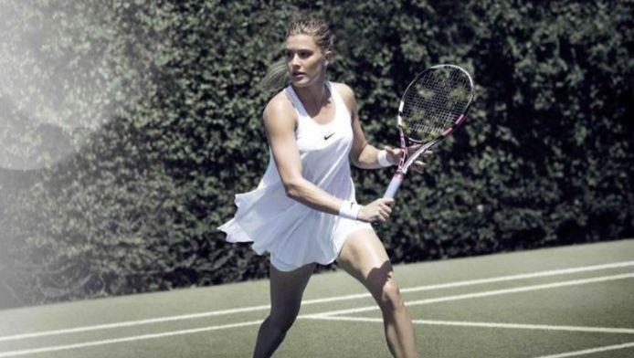 In dit jurkje zal Eugenie Bouchard waarschijnlijk niet te bewonderen zijn op Wimbledon
