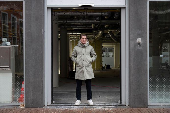 Tycho Jacobs van sportschool Harbor Gym begint vestiging in voormalig ING-bankgebouw aan de Mariënburg in hartje Nijmegen.