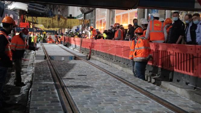 Travaux du tram à Liège: plus aucun retard ne sera toléré