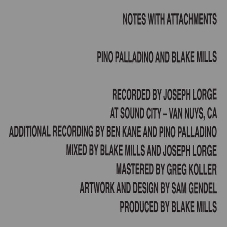Pino Palladino, Blake Mills: Notes with Attachments. Beeld RV
