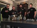 De bezielers van Wicked Whisky Compagnie: (vlnr) Giovanni Laleman, Sebastiaan Samyn, Maarten De Rycker en Arne Dekeyser
