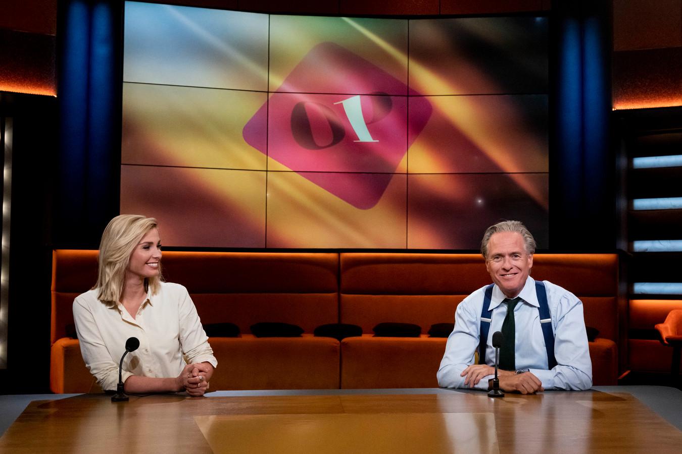 Jort Kelder en Welmoed Sijtsma presenteren namens Omroep WNL Op1