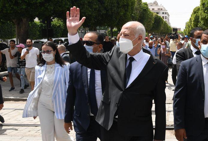 De Tunesische president Kais Saied.