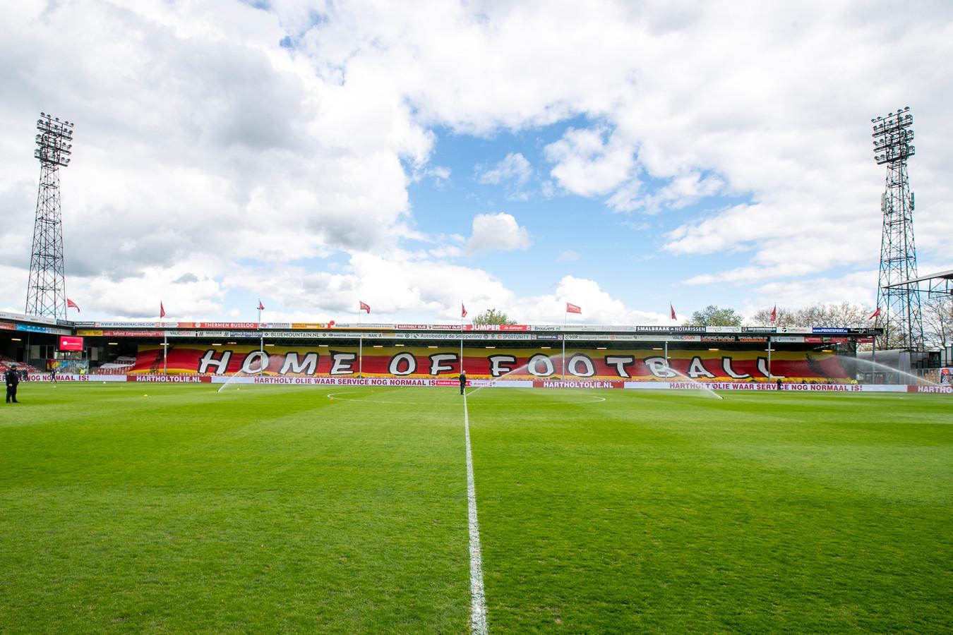 Stadion de Adelaarshorst   during the match Go Ahead Eagles - Helmond Sport