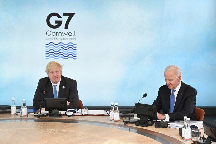 Boris Johnson et Joe Biden