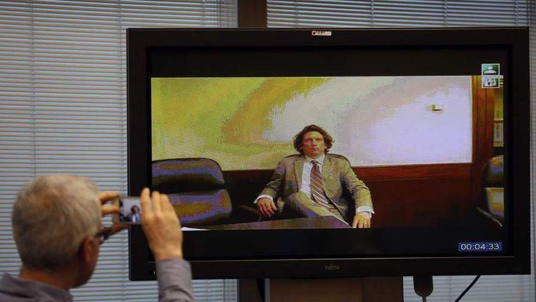 Tyler Hamilton stond vandaag via een videoverbinding in contact met de Spaanse rechtbank. Beeld reuters