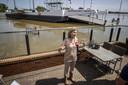 Demissionair minister Cora van Nieuwenhuizen (Infrastructuur en Waterstaat) staat de pers te woord tijdens een bezoek aan het door overstromingen getroffen Limburg.