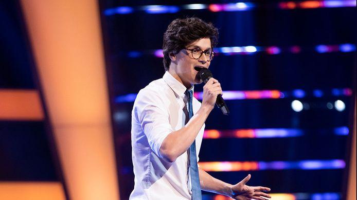 Dennis van Aarssen tijdens de eerste auditie van The Voice of Holland.