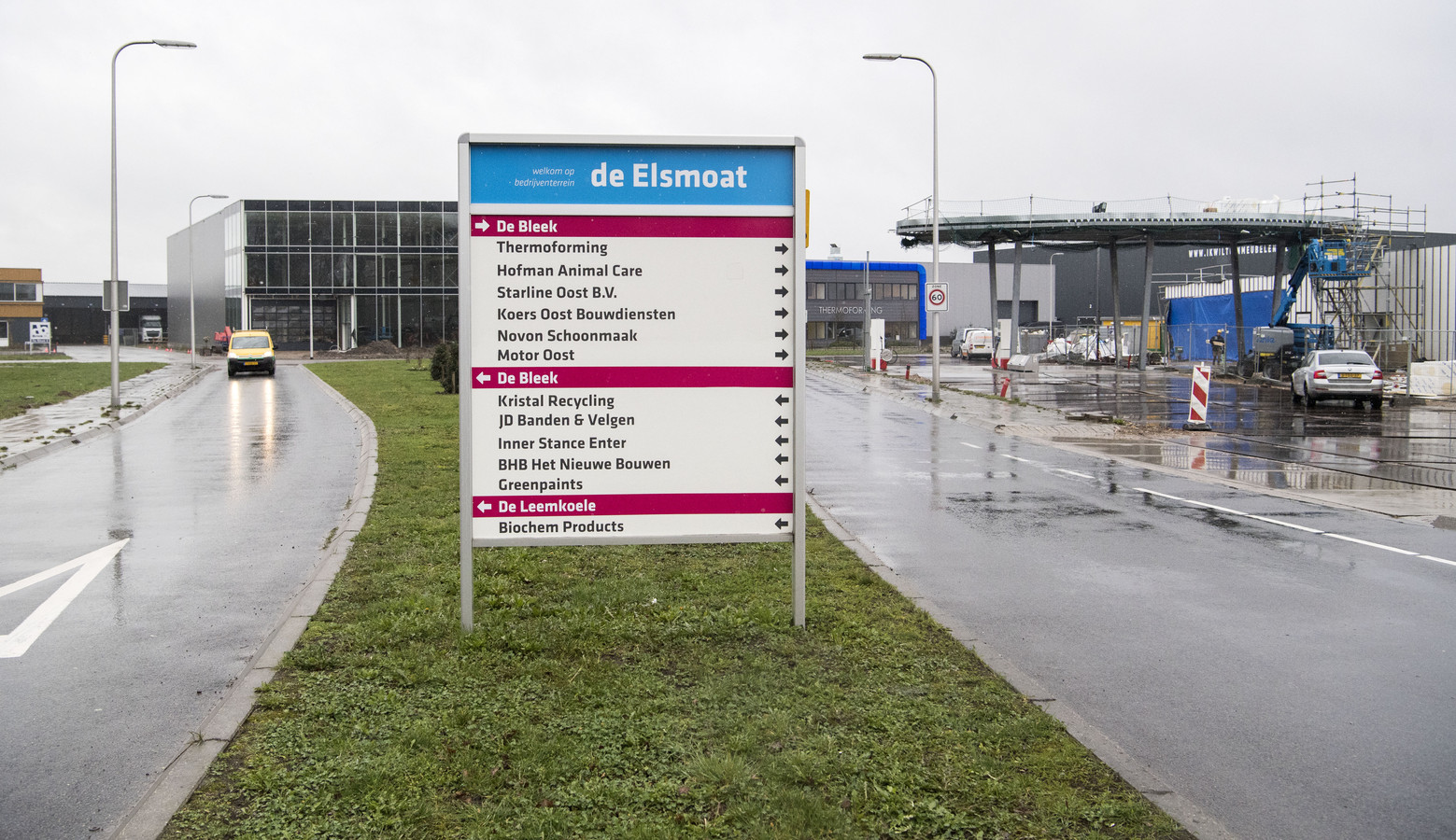 De gemeente Wierden wil alleen nieuwbouw toestaan op de bestaande bedrijventerreinen bij Enter, zoals De Elsmoat.