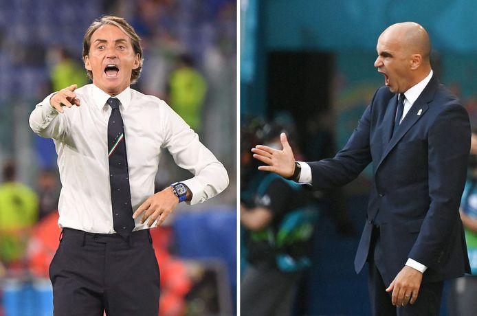 Roberto Mancini et Roberto Martinez