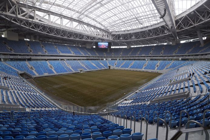 Het nieuwe stadion van Zenit werd vorig jaar in gebruik genomen.
