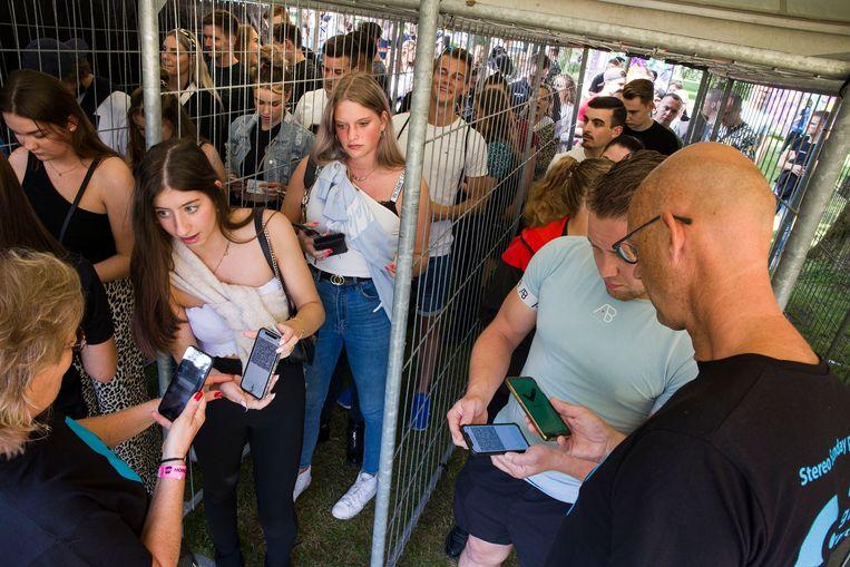 Het Sunday Stereo Festival in Venlo, dit weekeinde. Alleen naar binnen met een QR-code. Beeld Arie Kievit