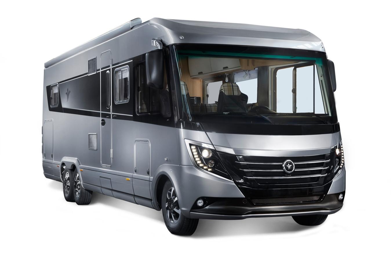Een camper van het Duitse luxemerk Niesmann+Bischoff.