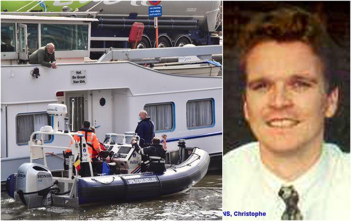 Een beeld van vorige week, toen de Cel Vermiste Personen in Roeselare met de sonarboot aan het werk was op het kanaal Roeselare-Leie. Dit kadert in de zoekactie naar de vermiste Christophe Maertens.