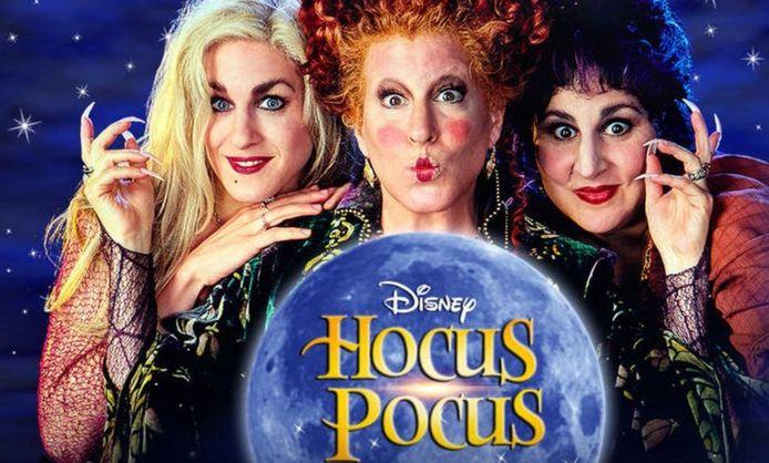 Sarah Jessica Parker (L), Bette Midler (midden) en Kathy Najimy (R) in 'Hocus Pocus' uit 1993.