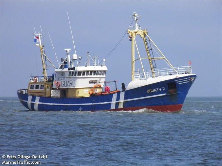De Bounty 2, de vissersboot waarin de drugs werd aangetroffen.