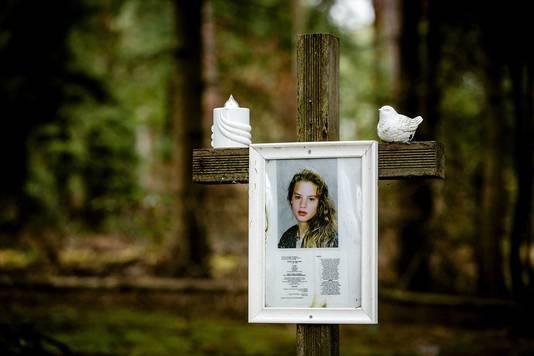 De vindplek van het lichaam van Nicole van den Hurk.