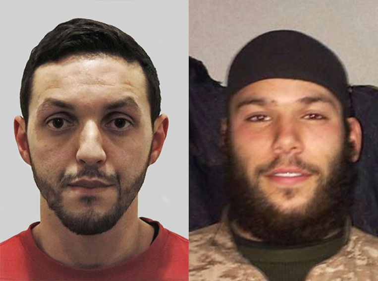 Mohamed Abrini en Osama Krayem. Beeld RV